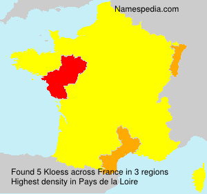 Surname Kloess in France