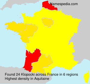 Surname Klopocki in France