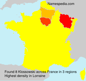 Surname Klossowski in France