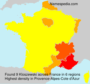 Surname Kloszewski in France