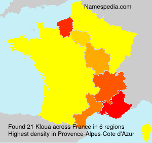 Familiennamen Kloua - France