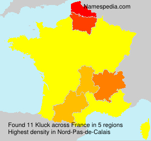 Surname Kluck in France