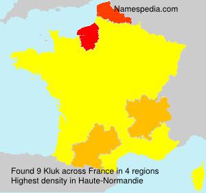 Familiennamen Kluk - France