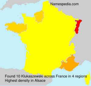 Surname Klukaszewski in France