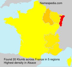 Surname Klumb in France