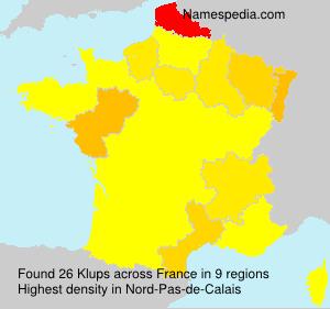 Surname Klups in France