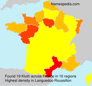 Surname Kluth in France