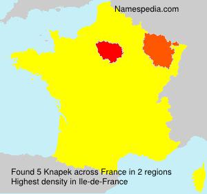 Surname Knapek in France