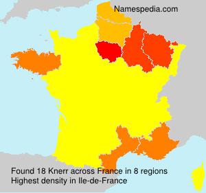 Familiennamen Knerr - France