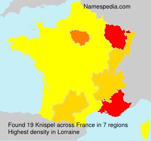 Familiennamen Knispel - France