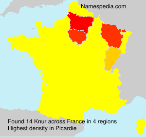 Surname Knur in France