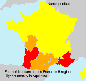 Surname Knutsen in France