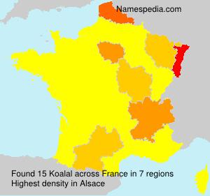 Familiennamen Koalal - France