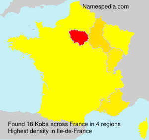 Familiennamen Koba - France