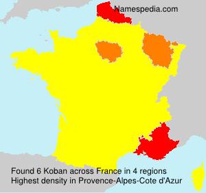 Surname Koban in France