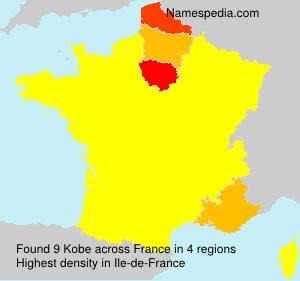 Surname Kobe in France