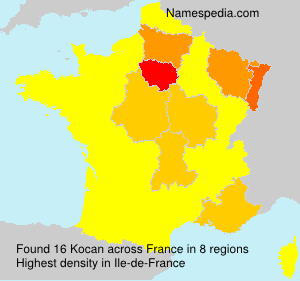 Surname Kocan in France