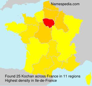 Surname Kochan in France