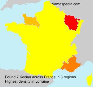 Familiennamen Kocian - France