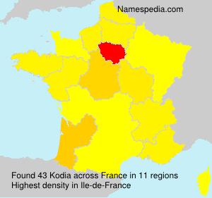 Surname Kodia in France