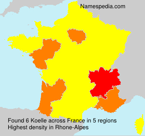 Surname Koelle in France