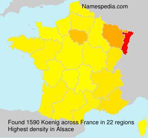 Familiennamen Koenig - France