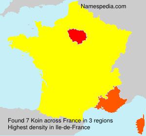 Familiennamen Koin - France
