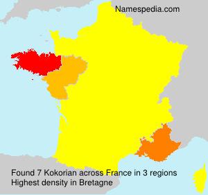 Familiennamen Kokorian - France