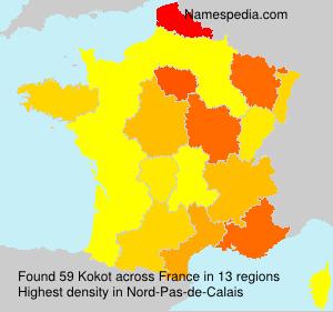 Surname Kokot in France