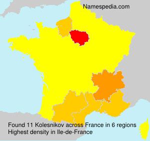 Surname Kolesnikov in France