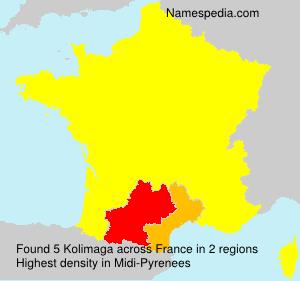 Surname Kolimaga in France
