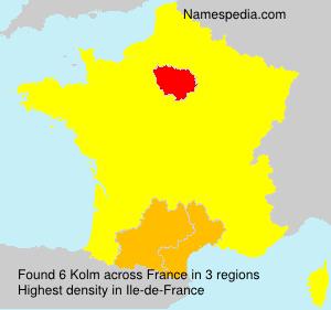Familiennamen Kolm - France