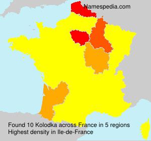 Familiennamen Kolodka - France
