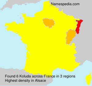 Surname Koluda in France