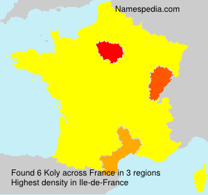 Surname Koly in France