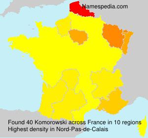 Familiennamen Komorowski - France