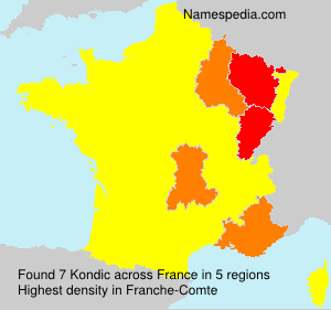 Surname Kondic in France