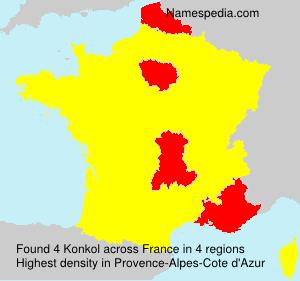 Familiennamen Konkol - France