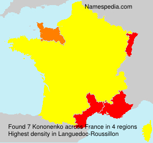Familiennamen Kononenko - France
