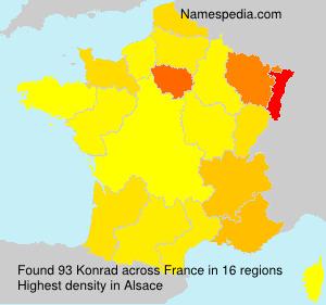 Surname Konrad in France