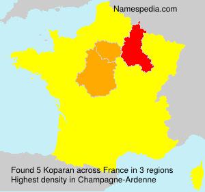 Familiennamen Koparan - France