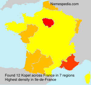 Surname Kopel in France