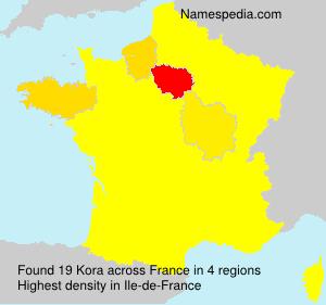 Surname Kora in France