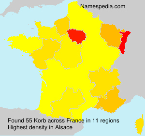 Surname Korb in France