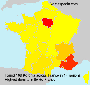 Surname Korchia in France