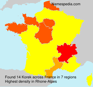 Surname Korek in France