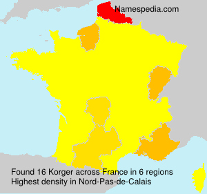 Surname Korger in France