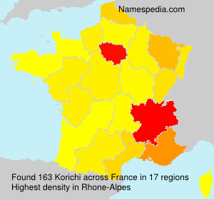 Surname Korichi in France