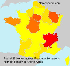 Surname Korkut in France