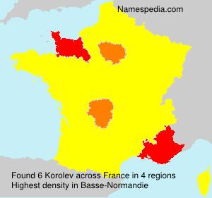 Surname Korolev in France